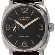 沛納海 Radiomir 1940 3 Days Automatic 二手 45mm 黑色 鱷魚皮