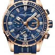 Ulysse Nardin Diver Chronograph Rose gold 44mm Blue No numerals United States of America, Florida, Miami