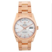 Rolex Day-Date 36 Rose gold 36mm Silver No numerals
