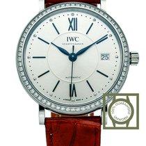 IWC Portofino Silver Dial Diamond bezel Ladies Watch NEW