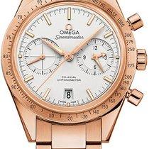 Omega Or rose Remontage automatique Argent 41.5mm nouveau Speedmaster '57