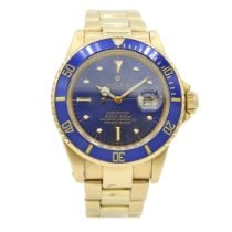 Rolex 16808 Yellow gold Submariner Date 40mm pre-owned United States of America, New York, New York
