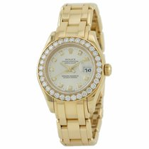 Rolex Pearlmaster 29 80298 29mm 18k Yellow Gold Case Automatic...