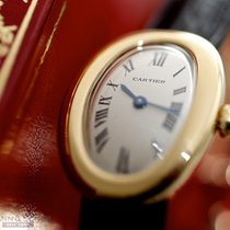 Cartier Baignoire Gelbgold 31mm Weiß Römisch Deutschland, München