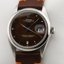 Rolex Steel 34mm Automatic 1500 brown gilt tropical pre-owned