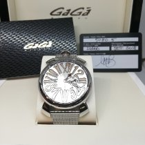 Gaga Milano Steel 45mm Quartz 24666 new