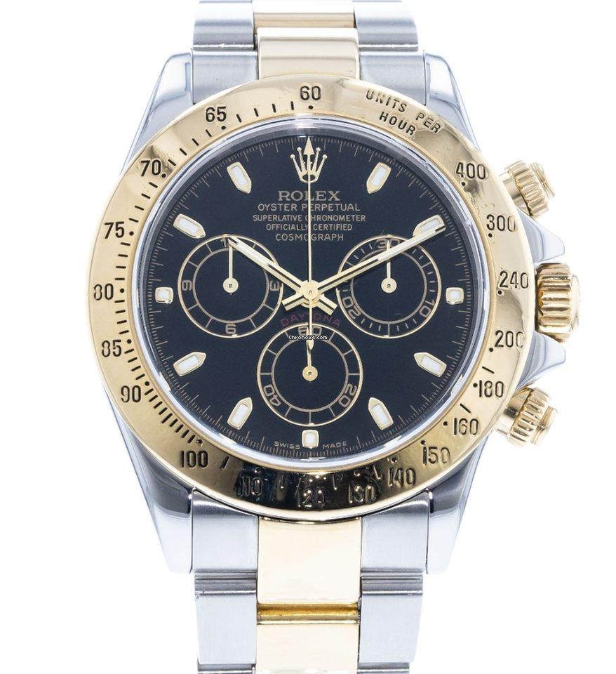 Used Rolex Daytona >> Rolex Daytona 116523 Watch With 18k Yellow Gold Stainless Steel Bracelet And 18k Yellow Gold Bezel
