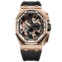 Audemars Piguet Royal Oak Offshore Tourbillon Chronograph Oro rosado 45mm Transparente Sin cifras