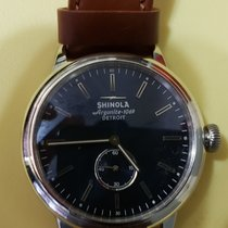 Shinola Steel 42mm Quartz s01-005-00222 pre-owned