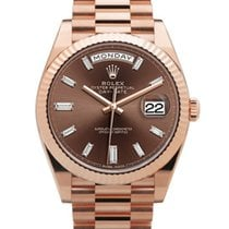 Rolex Day-Date 40 Rose gold 40mm Brown No numerals United States of America, California, Los Angeles