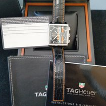 TAG Heuer Steel Automatic Black 38mm new Monaco