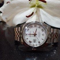 Rolex Datejust Acier 36mm Blanc Romain