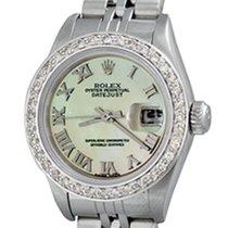 Rolex Lady-Datejust Ατσάλι 25mm Μαργαριταρένιο Ρωμαϊκοί