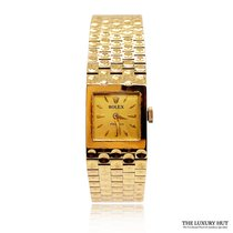 Rolex Yellow gold Manual winding 16mm pre-owned Oyster Precision