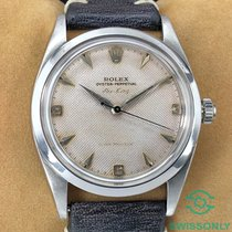 Rolex Air King Precision pre-owned 36mm Silver Leather