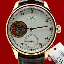 IWC Portuguese Tourbillon Rose gold Silver Arabic numerals