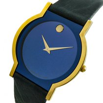 Movado Sapphire Goud/Staal 32,5mm Blauw