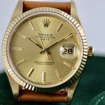 Rolex Oyster Perpetual Date Or jaune 34mm Or Sans chiffres France, Cannes