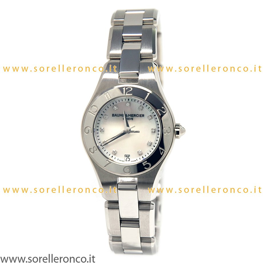 enorme sconto 02a07 96a30 Baume & Mercier Linea Quartz Full Steel Lady Mother of Pearl Dial 27mm