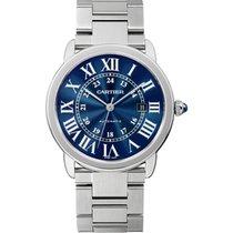 Cartier Ronde Croisière de Cartier Steel 42mm Blue Roman numerals United States of America, Pennsylvania, Holland
