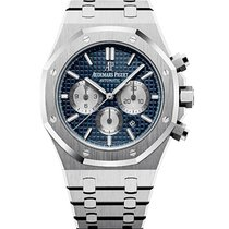 Audemars Piguet Steel Automatic Blue No numerals 41mm new Royal Oak Chronograph