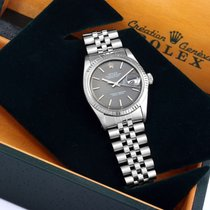 Rolex 36mm SS DATEJUST Factory Slate Dial Jubilee w/ Rolex Box