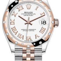 Rolex Datejust Or/Acier 31mm Blanc