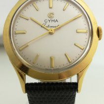 西马 黃金 33.95mm 自動發條 Cyma Hammer Automatic Vintage 18 K Gold Serviced & Warranty 二手