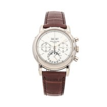 Patek Philippe Perpetual Calendar Chronograph White gold 36mm Silver No numerals United States of America, Pennsylvania, Bala Cynwyd