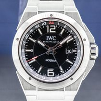 IWC Ingenieur Dual Time Aço 43mm Preto Árabes