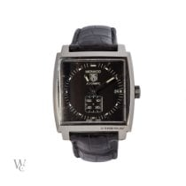 TAG Heuer Monaco Calibre 6 Steel 37mm Black No numerals