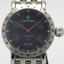 Chronoswiss Acier 41mm Remontage automatique CH 2733-AZ nouveau