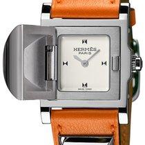 Hermès Médor Stal 23mm Srebrny