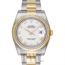 Rolex Datejust Or jaune 36.00mm Blanc