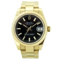 Rolex 18ct Datejust Oyster Bracelet 178278 mid size Watch