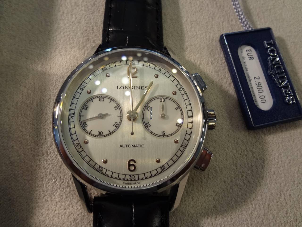 longines heritage chronograph 1940 f r kaufen von einem trusted seller auf chrono24. Black Bedroom Furniture Sets. Home Design Ideas