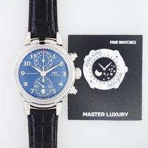 IWC Da Vinci Chronograph Steel 42mm Blue Arabic numerals United States of America, New York, NEW YORK