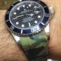 Rolex 16610 Submariner Watch Mens Black Carbon Dial Box &...
