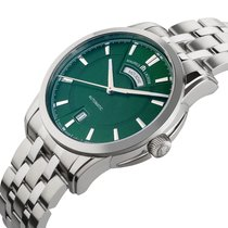 Maurice Lacroix Pontos Day Date Steel 40mm Green No numerals