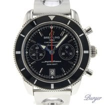 Breitling Superocean Héritage Chronograph Zeljezo 44mm Crn Bez brojeva