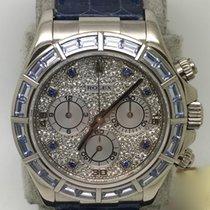 Rolex Daytona White gold 40mm Blue No numerals