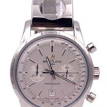 Breitling Transocean Chronograph 38 Steel 38mm Silver United States of America, Florida, Boca Raton