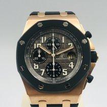 Audemars Piguet Royal Oak Offshore Chronograph Ροζέ χρυσό 42mm Μαύρο Αραβικοί