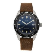 Oris 42mm Automatic 2010 pre-owned Divers Sixty Five Blue