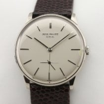 Patek Philippe Calatrava 2573-2 Herrenuhr Very good White gold 33mm Manual winding