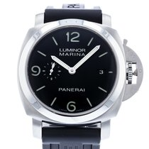 Panerai Luminor Marina 1950 3 Days Automatic folosit 44mm Negru Data Cauciuc