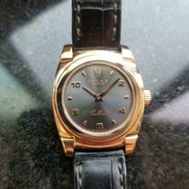 Rolex Cellini pre-owned 26mm Black Date Crocodile skin