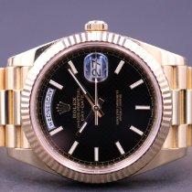 Rolex Day-Date 40 Gult guld 40mm Sort Danmark, Greve