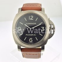 Panerai Luminor Base Titanium 44mm Zwart Arabisch