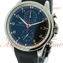 IWC Portuguese Yacht Club Chronograph Steel 45.4mm Black Arabic numerals